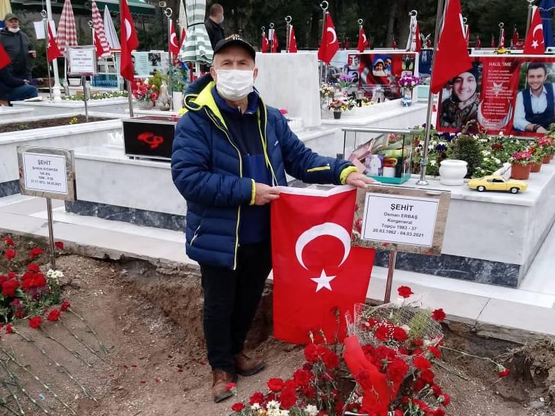 Şehit Korgeneral Osman Erbaş'a vefa! Yozgatlılar mezarına akın etti 6
