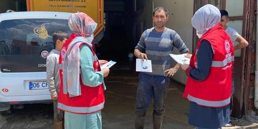 Yozgat Sanayi Sitesi'nde tek tek broşür dağıttılar