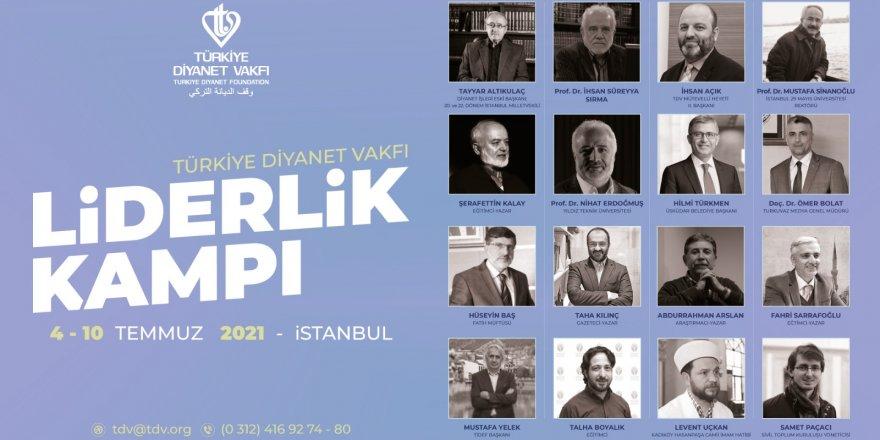 """Türkiye Diyanet Vakfı'ndan öğrencilere """"Liderlik Kampı"""""""