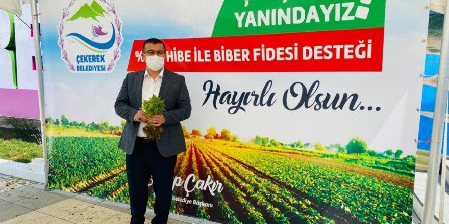 Çekerek Belediye Başkanı Çakır açıkladı! 1 milyon adet dağıtıldı