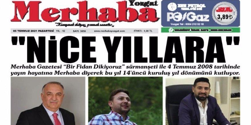 Merhaba Yozgat Gazetesi 14 yaşında