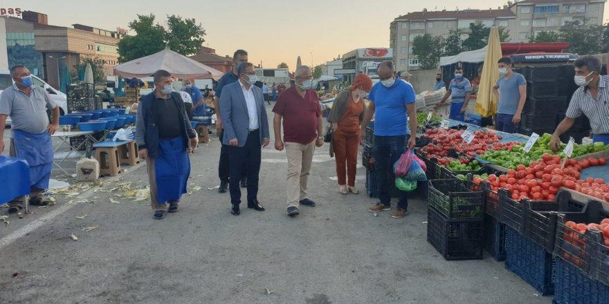 Yozgat Valisi Polat, pazarcı esnafının sorunlarını dilendi