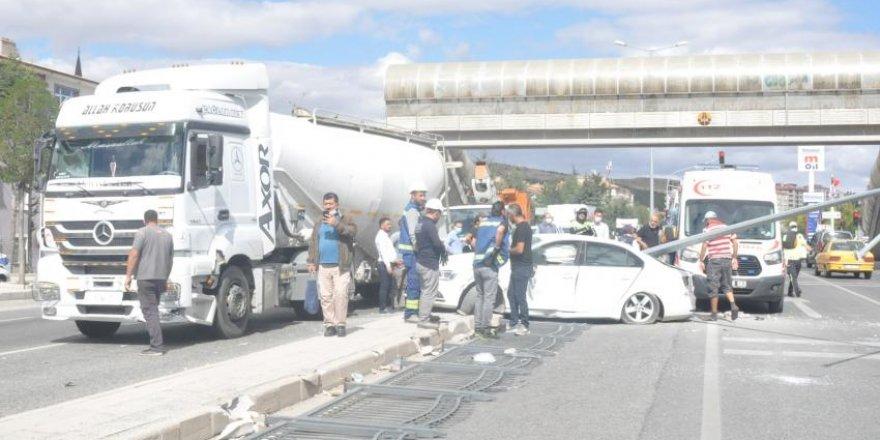 Yozgat'ta trafik kazası! Sürücü aracın hakimiyetini kaybedince olanlar oldu