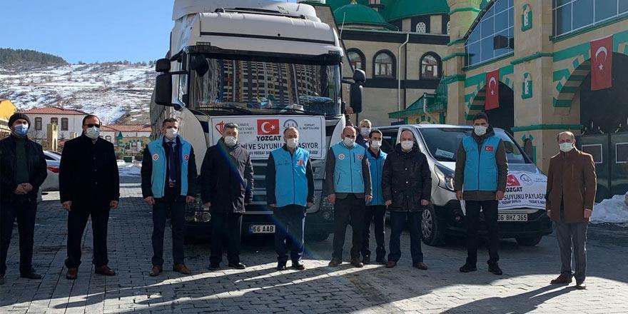 Yozgat'tan savaş mağduru ailelere yardım