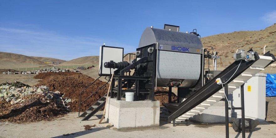 Yozgat'ta sebze ve meyve atıkları organik gübreye dönüşüyor