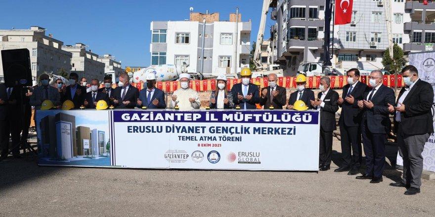 Diyanet İşleri Başkanı Erbaş, Eruslu Diyanet Gençlik Merkezi'nin temelini attı