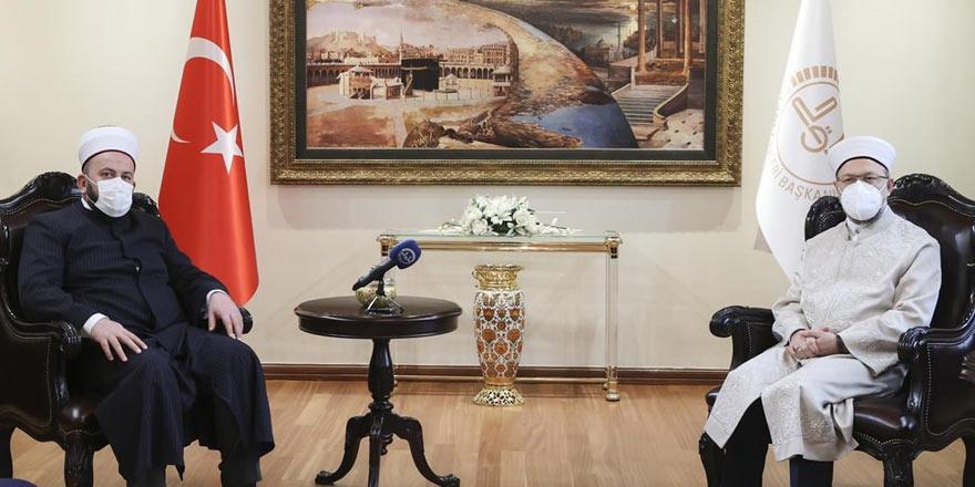 Diyanet İşleri Başkanı Prof. Dr. Ali Erbaş, Karadağ İslam Meşihatı Başkanı Feyziç'i kabul etti
