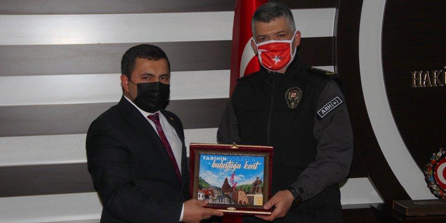 Yozgat İl Emniyet Müdürü Esertürk Akdağmadeni Belediyesi'ni ziyaret etti