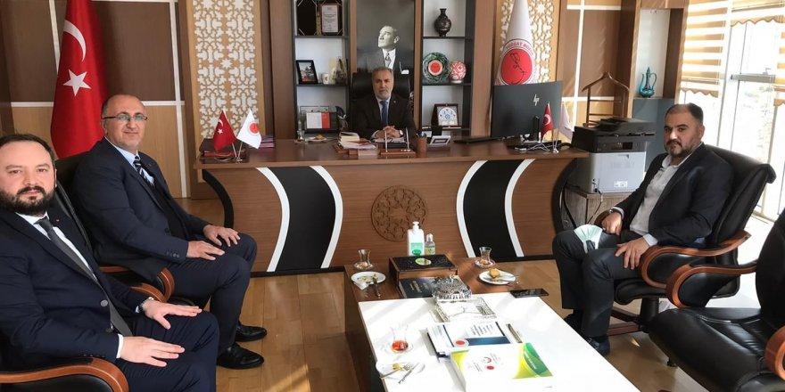 Kenan Şerefli'den Rektör Karadağ'a ziyaret