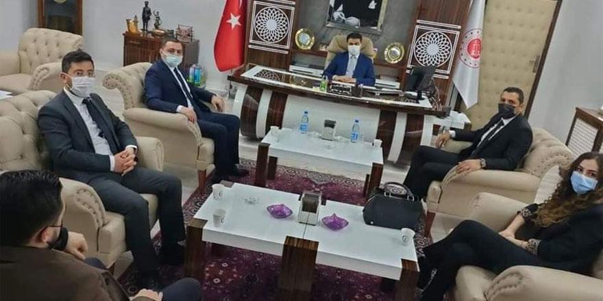 MHP Yozgat İl Başkanlığı, Başsavcı Uçak ve Ağır Ceza Reisi Sazak'ı ziyaret etti