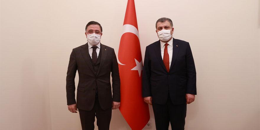 Ak Parti Yozgat Milletvekili Başer ve Sağlık Bakanı Koca buluştu! Yozgat'ı konuştular