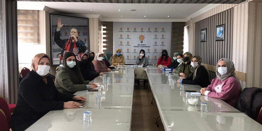 AK Parti Yozgat Kadın Kolları istişare için bir araya geldi