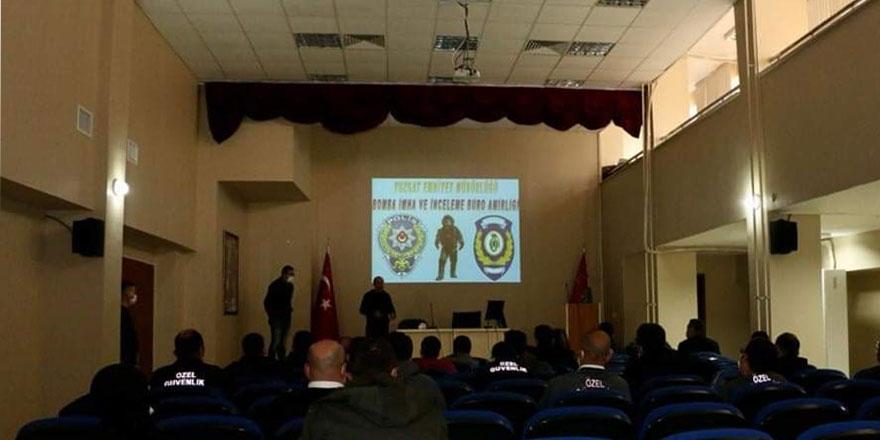 Yozgat Emniyetinden özel güvenliklere seminer