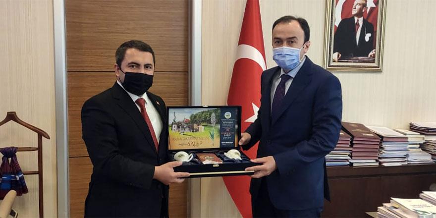 Akdağmadeni Belediye Başkanı Yalçın'dan Konak'a ziyaret