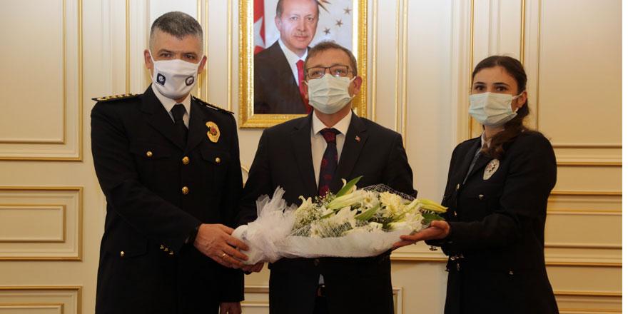 Yozgat İl Emniyet Müdürlüğü'nden Vali Polat'a ziyaret