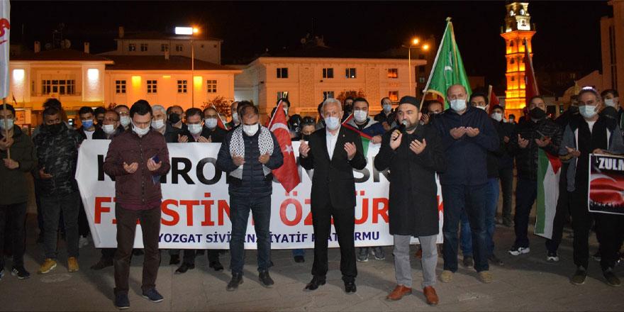Yozgat'tan Filistin'e destek İsrail'e lanet